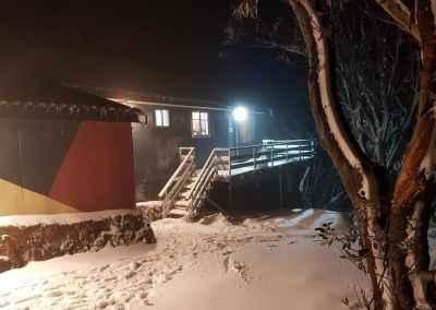 lodge at night