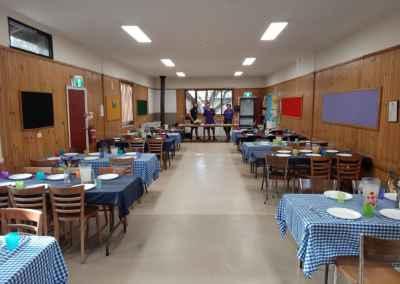 new look dining room at Nilla